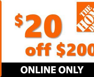 Home Depot $20 off $200 Coupon Promo Code – ONLINE ONLY – MUST USE SAME DAY